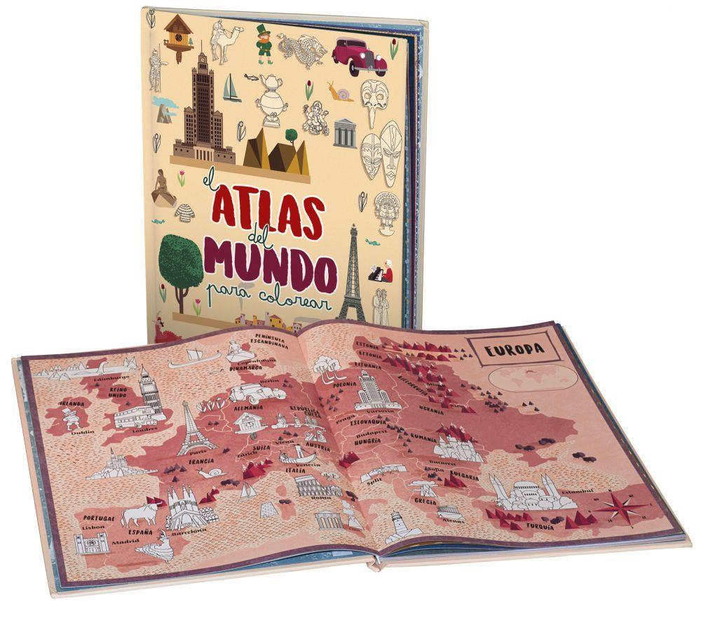 EL ATLAS DEL MUNDO PARA COLOREAR